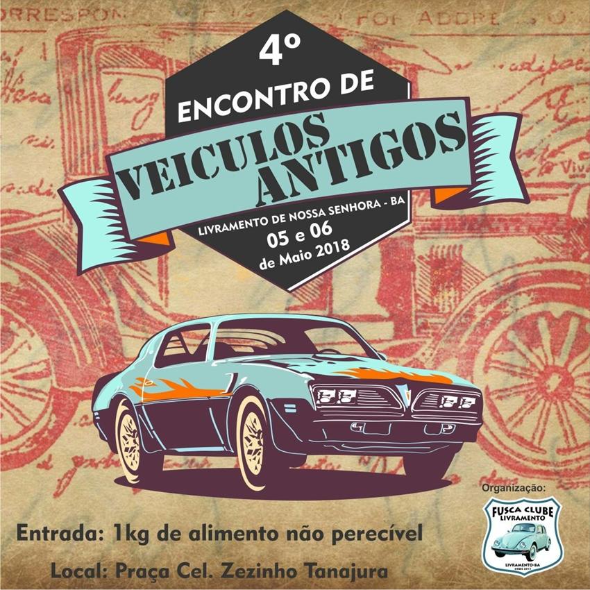 Livramento: 4° Encontro de veículos antigos acontecerá neste  final de semana