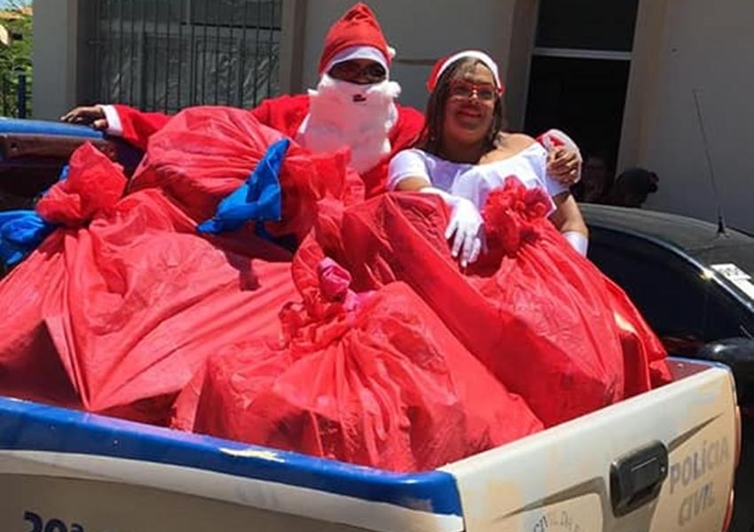 Brumado: Polícia Civil leva alegria às crianças da Creche Mariany Vitória