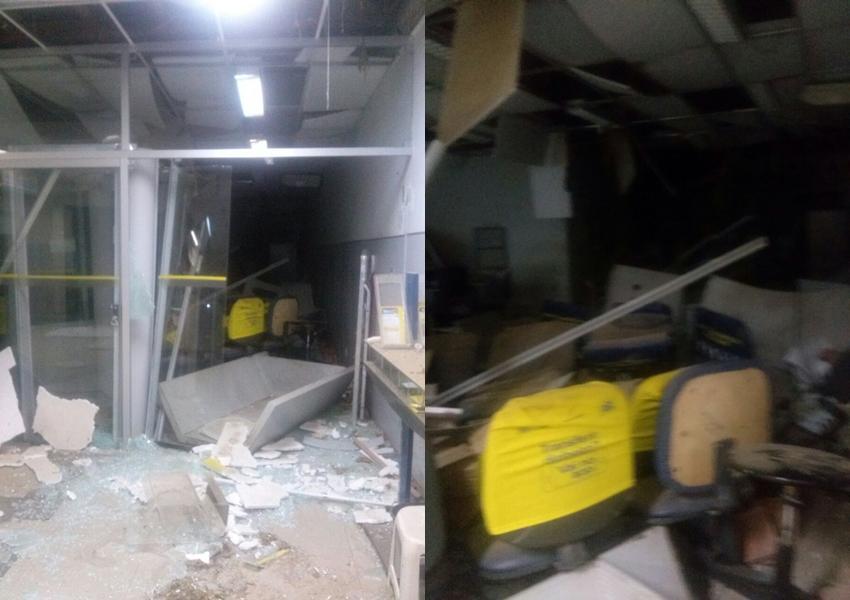 Bandidos explodem cofre e destroem agência bancária de Malhada