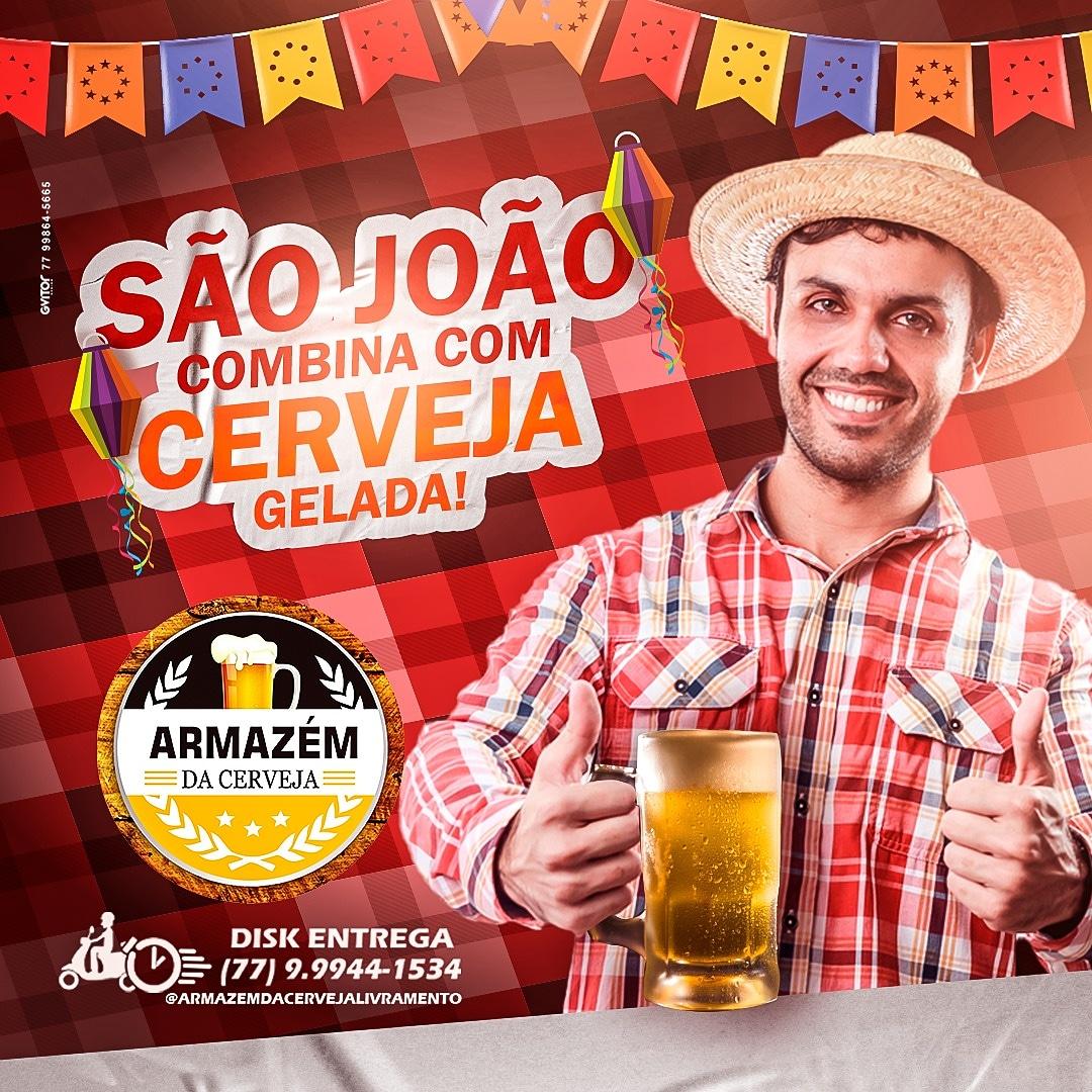 São João combina com cerveja gelada; venha para o Armazém da Cerveja