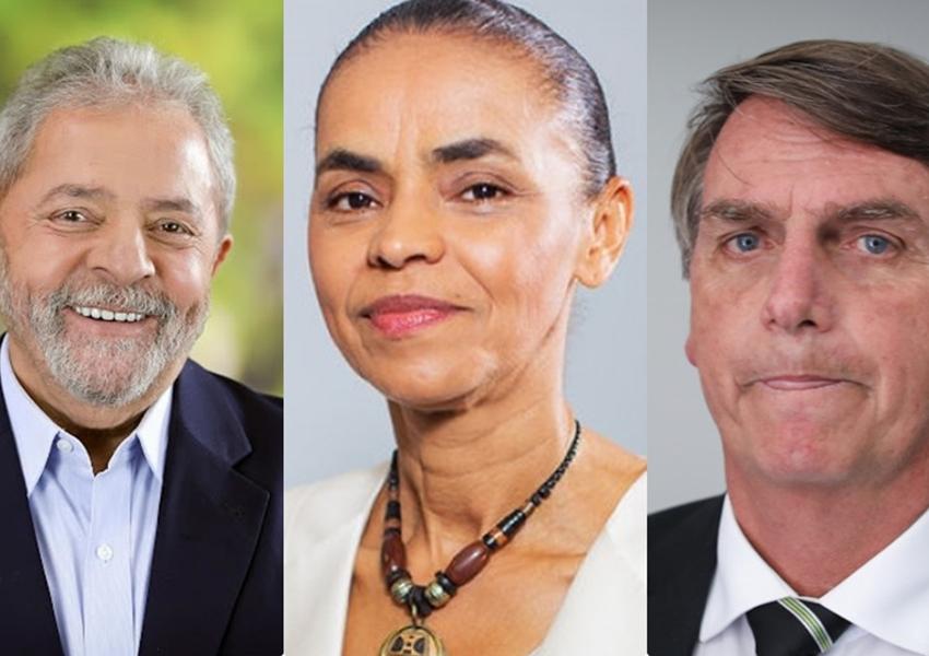 Após prisão, Lula perde votos e Bolsonaro e Marina Silva empatam, segundo Datafolha