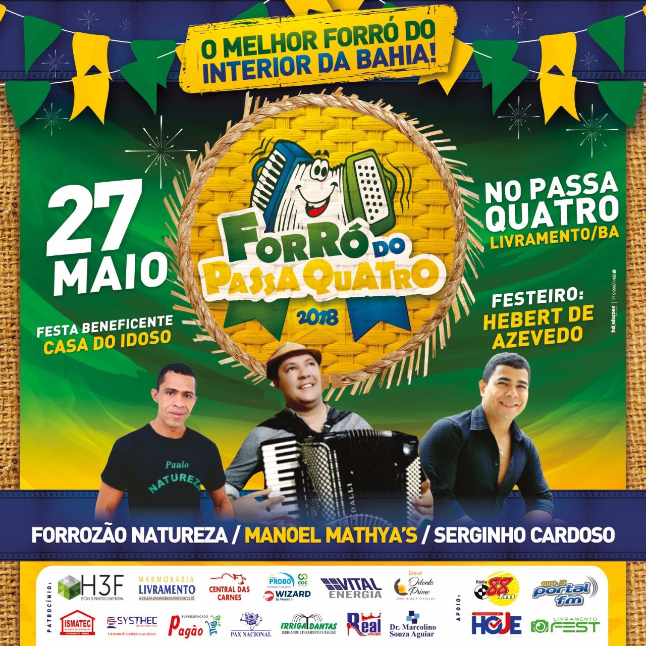 Livramento: Forrozão Natureza, Manoel Mathya's e Serginho Cardoso irão animar o terceiro Domingo de Sol do Passa Quatro