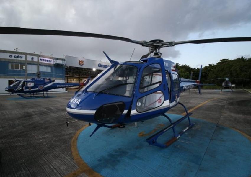 Helicópteros da PMBA e Casa Militar finalizam transporte aéreo de vacinas no interior