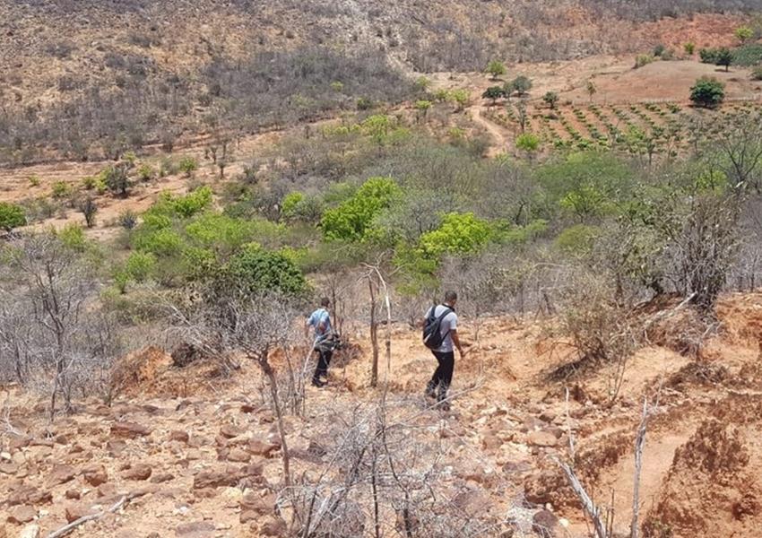 Incêndio florestal na Serra do Barbado, em Abaíra, é controlado pelos bombeiros
