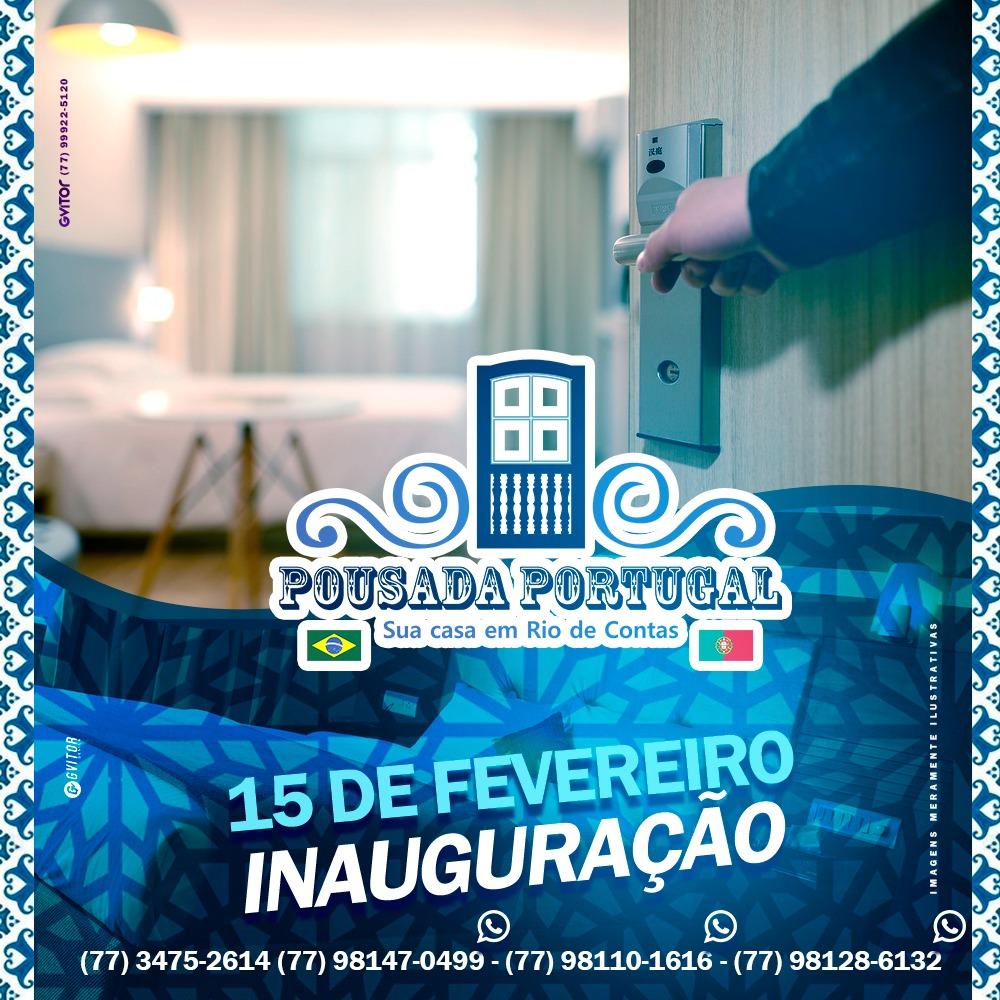 Pousada Portugal em Rio de Contas será inaugurada no dia 15 de Fevereiro; reserve seu pacote para o carnaval.