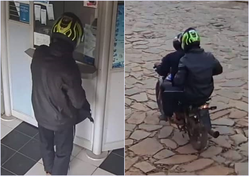 Dupla armada foge em moto após assaltar lotérica em Rio de Contas