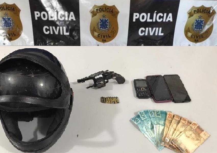 Livramento: Polícia Civil apreende arma e recupera objetos roubados na comunidade de Lourenço