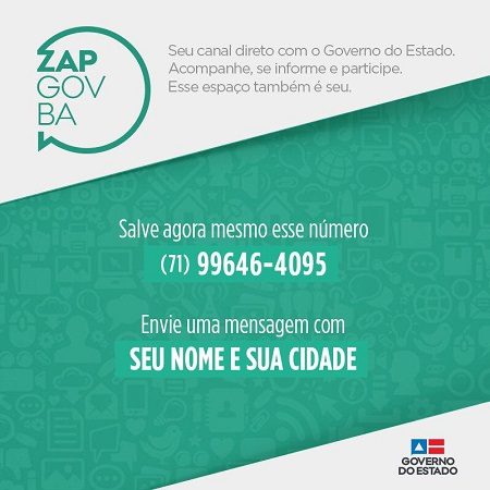 Governo do Estado lança WhatsApp para divulgar informações e aperfeiçoar interação com o cidadão