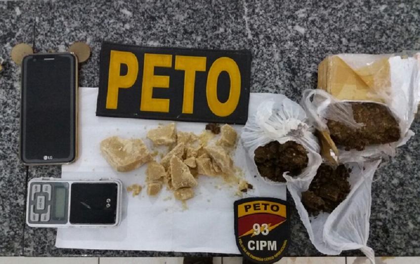 Maracás: Jovens de 19 e 23 anos foram presas pela Polícia Militar com maconha e crack