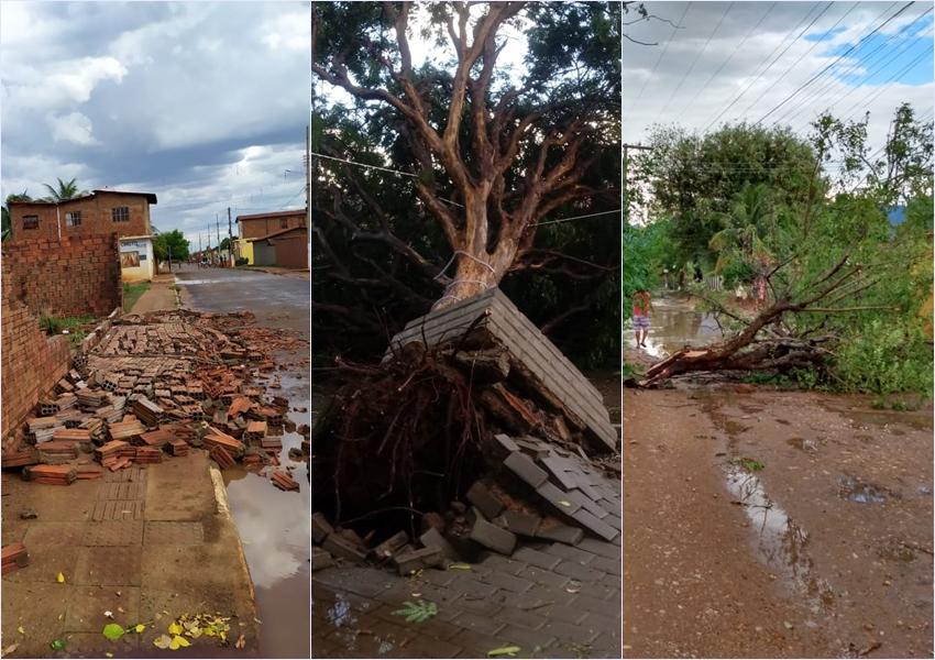 Chuva e ventos fortes causam estragos em Livramento