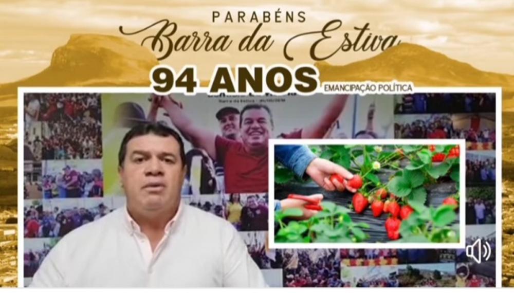 Deputado Marquinho Viana parabeniza Barra da Estiva pelos 94 anos de emancipação política