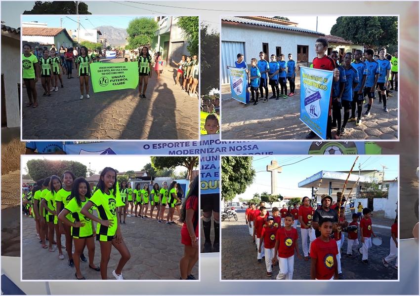 Livramento: Escolinha de Futebol FC realizou desfile em comemoração ao dia das crianças