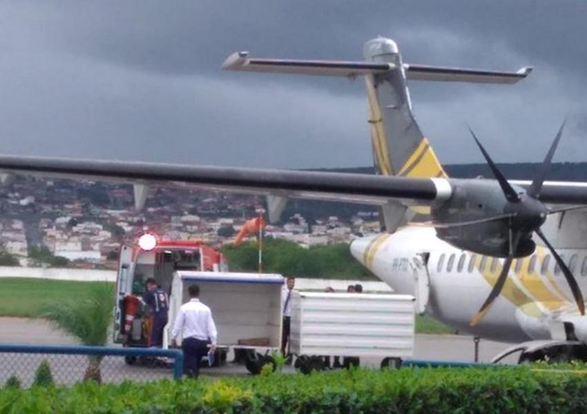 Idoso de Livramento sofre infarto e morre dentro de avião de Conquista a Salvador