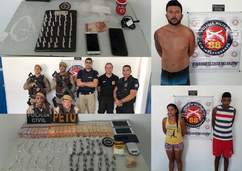 Três são presos na Operação 'Caravelas Contra o Tráfico'