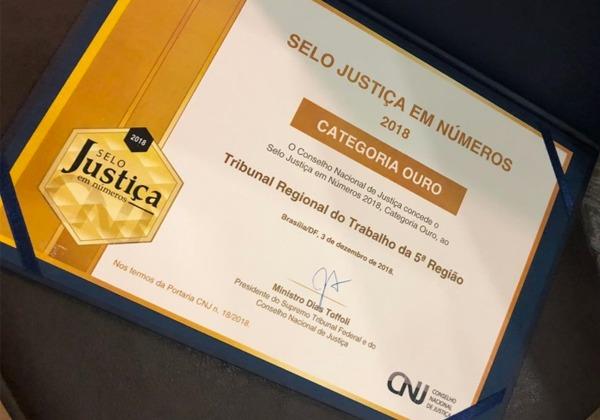 TRT5 e TJBA recebem prêmio nacional do CNJ
