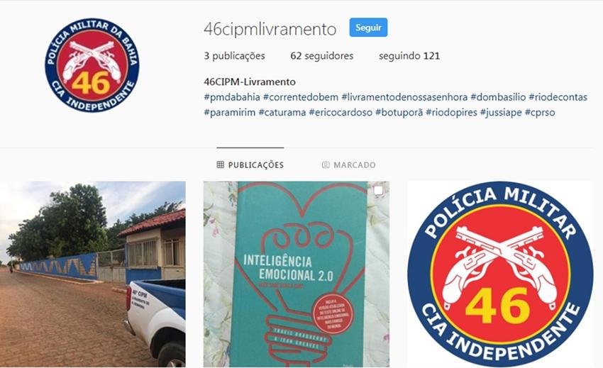 46ª CIPM: Polícia Militar lança perfil no Instagram