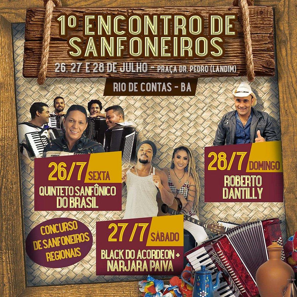 Rio de Contas receberá encontro de sanfoneiros entre os dias 26 e 28 de julho