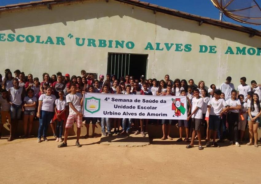 Unidade Escolar Urbino Alves de Amorim na Várzea realizou a 4ª Semana de Saúde