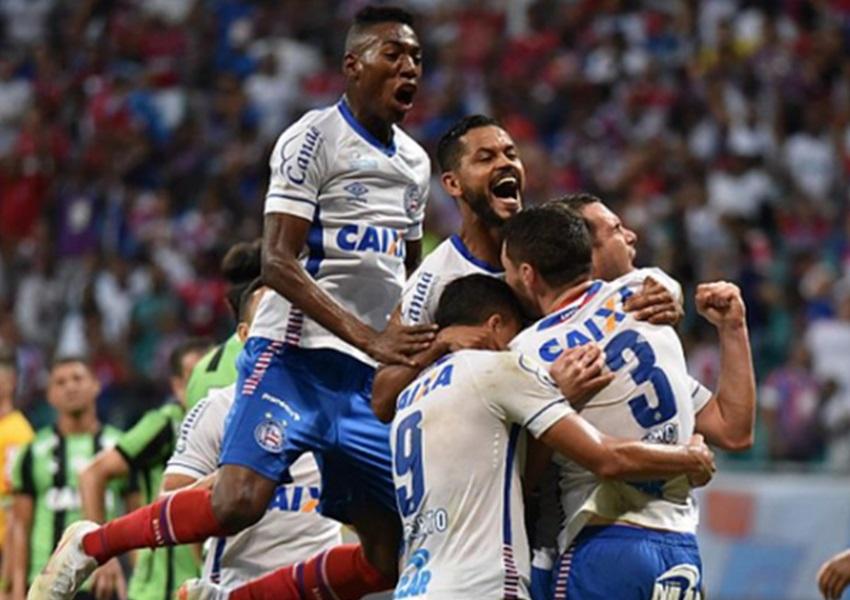 Bahia bate o América-MG na Fonte Nova e encosta na parte de cima da tabela da Série A