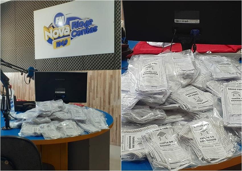 Rio de Contas: Após receber doações, rádio distribui máscaras e cestas básicas