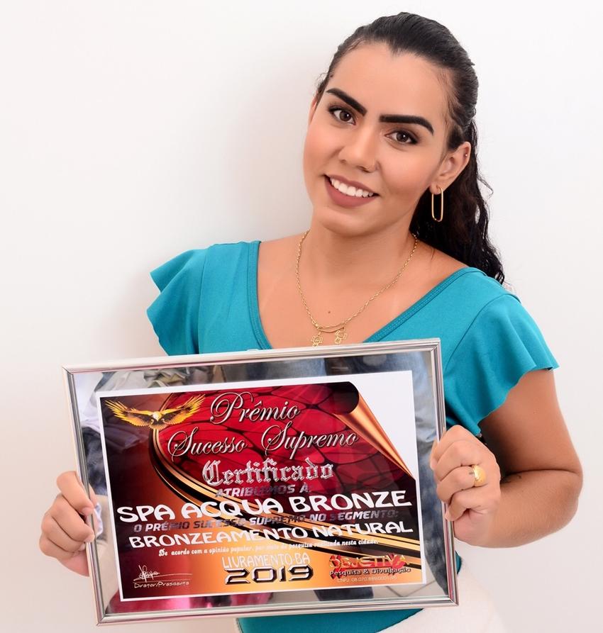 Spa Acqua Bronze recebe titulo de destaque 2019 em Livramento