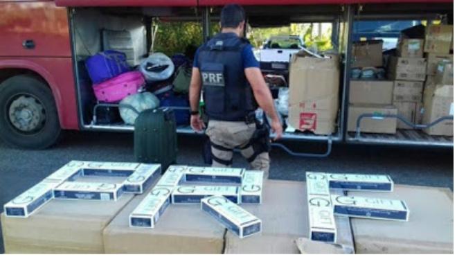 Bahia: PRF apreende cerca de cento e cinquenta mil cigarros contrabandeados