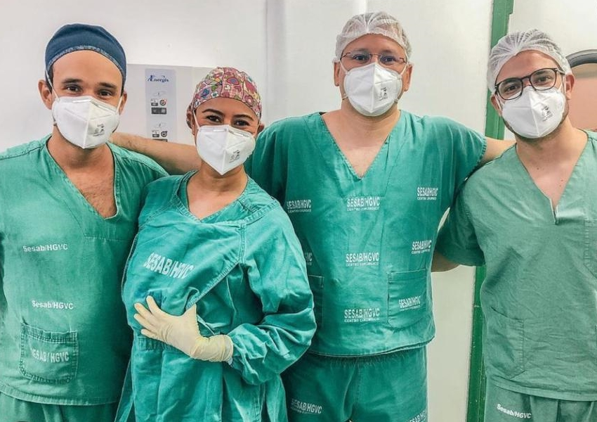 Equipes de Neurocirurgia e Ortopedia do HGVC se unem para realizar procedimento inédito