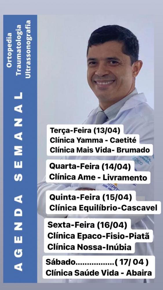 Confira agenda semanal do Doutor Ricardo Barbosa