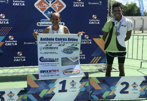 Tõe Corredor conquista medalha de ouro no circuito Loterias Caixa Paraolímpico em Aracaju e conquista vaga para disputa nacional