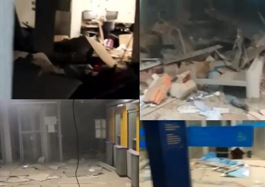 Três agências bancárias são explodidas no município de Correntina