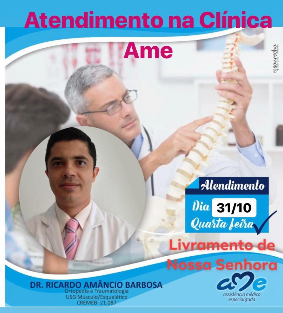 Agenda Dr. Ricardo Barbosa para está quarta feira