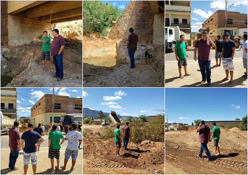 Livramento: Prefeito Ricardinho visita obras em andamento no município