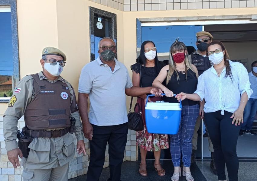 46ª CIPM  participa da missão de recebimento e escolta das vacinas contra COVID-19
