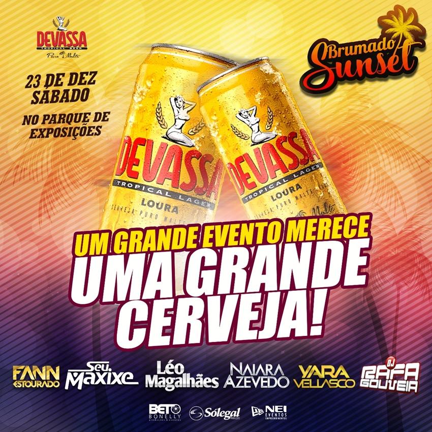 Brumado Sunset celebra parceria com a Devassa Puro Malte