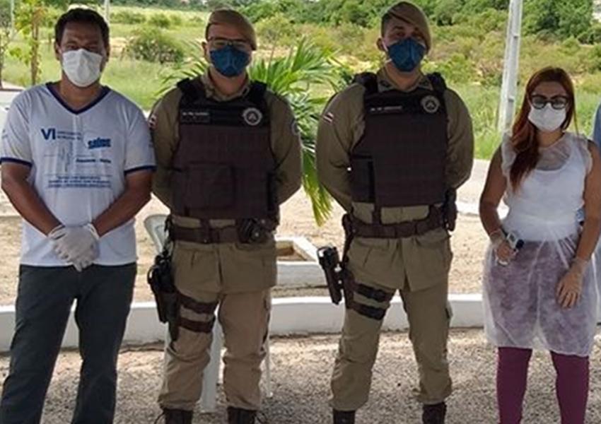 Coronavírus: Blitz conta com apoio da Polícia Militar em Jussiape