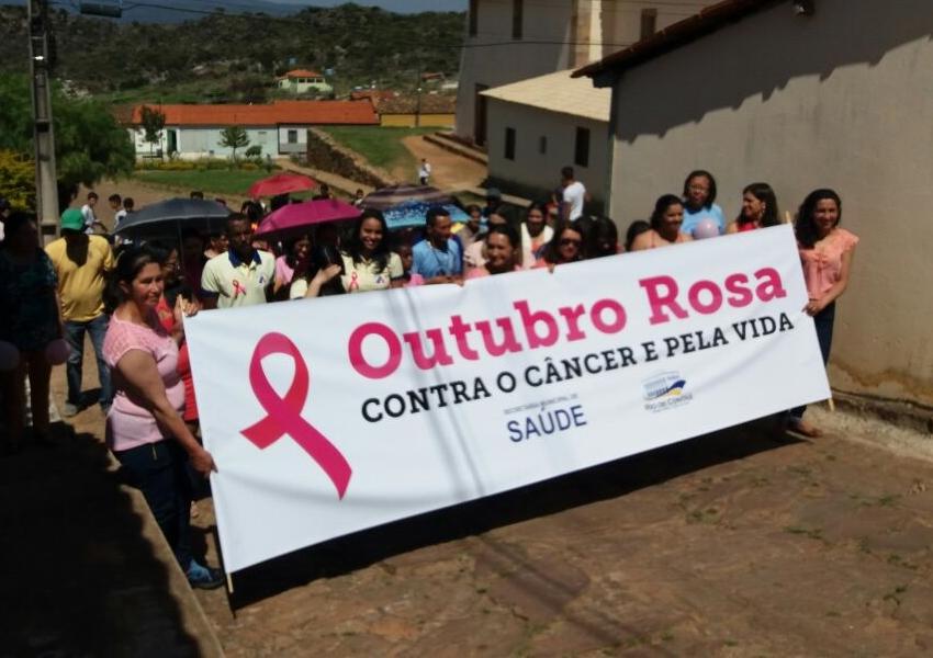 Outubro Rosa: Unidade de Saúde da Família de Mato Grosso em Rio De Contas realiza 1ª Caminhada contra o câncer pela VIDA