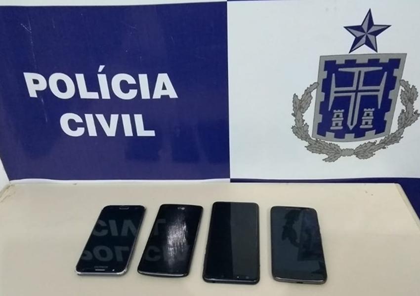 Brumado: Policia Civil recupera telefones celulares roubados