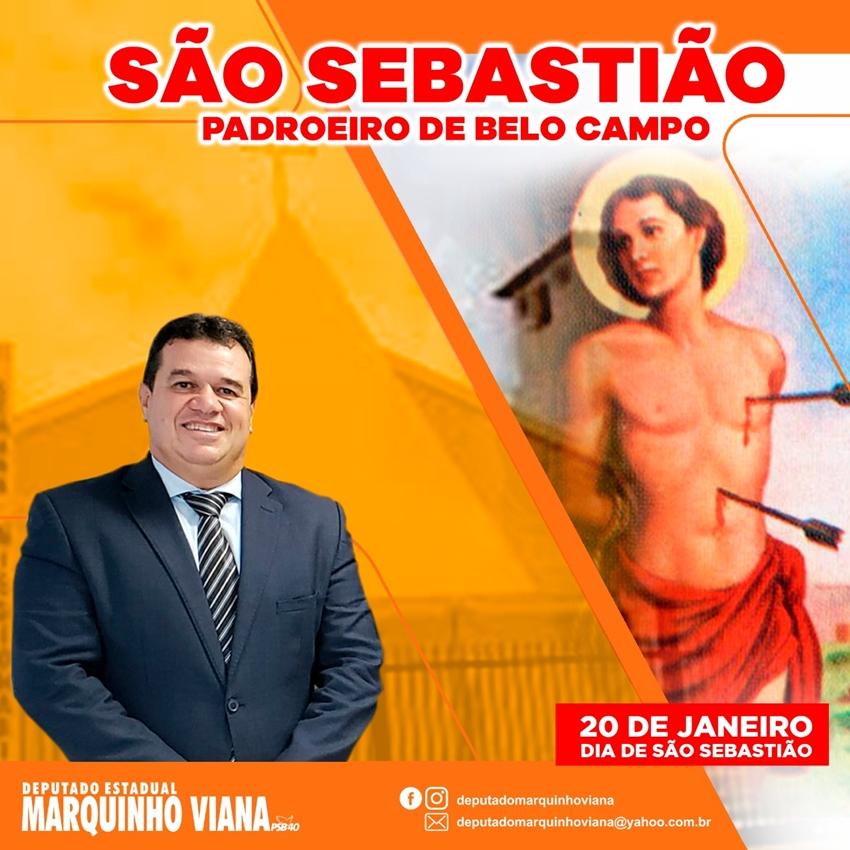 Deputado Marquinho Viana celebra Dia de São Sebastião