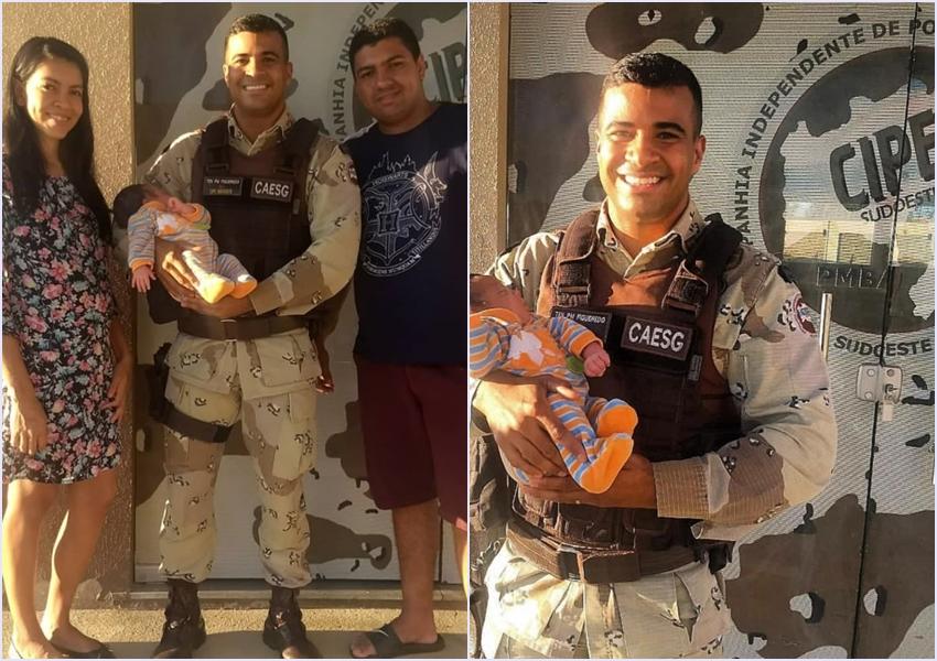 Policial da Cipe Sudoeste salva bebê engasgado com leite