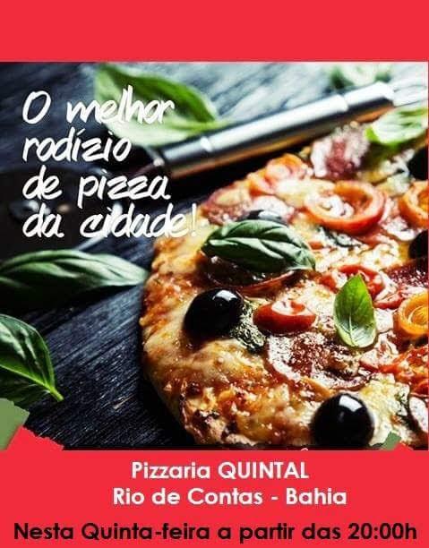 Nesta quinta feira tem rodízio de pizza na Pizzaria Quintal em Rio de Contas