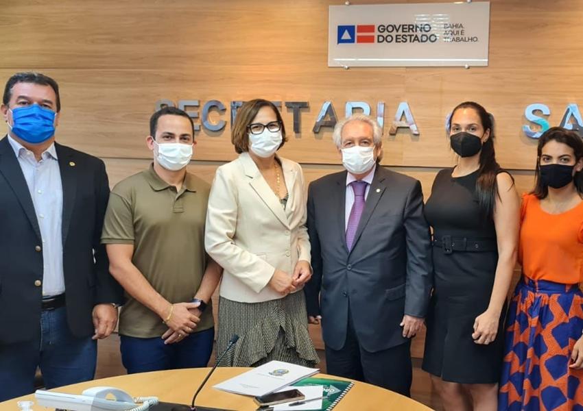 Prefeito de Ituaçu busca mais investimentos e melhorias na área da Saúde junto a Sesab