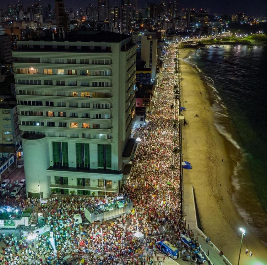 Evento com Haddad reúne 100 mil pessoas em Salvador, dizem organizadores