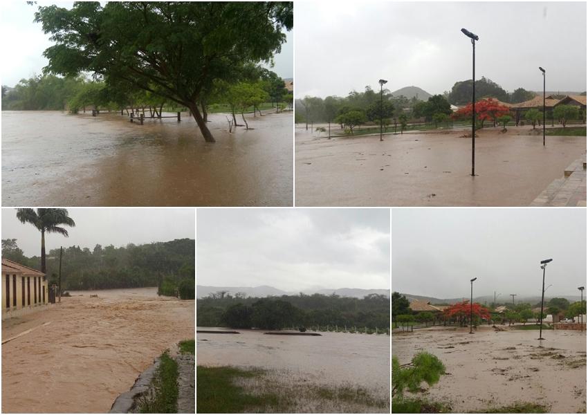 Rio de Contas: Chuva forte causa alagamentos em diversos pontos da cidade