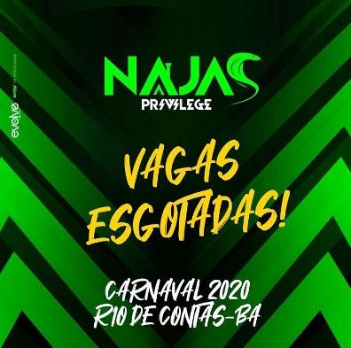 Rio de Contas: Casa Najas Privilege é a casa com vagas mais disputadas no carnaval 2020