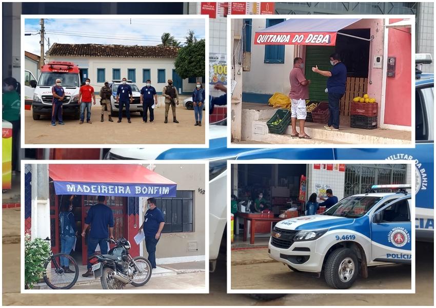 Vigilância Sanitária promove ação informativa baseada nas determinações do novo decreto em Marcolino Moura