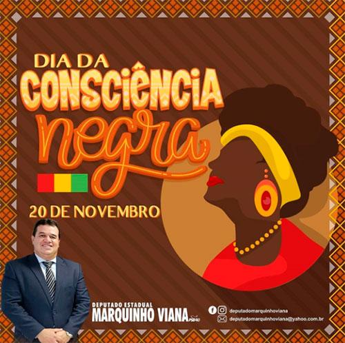 Deputado Marquinho Viana celebra o Dia da Consciência Negra