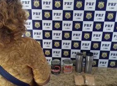 Conquista: Mulher é presa ao transportar cocaína líquida como concentrado de açaí