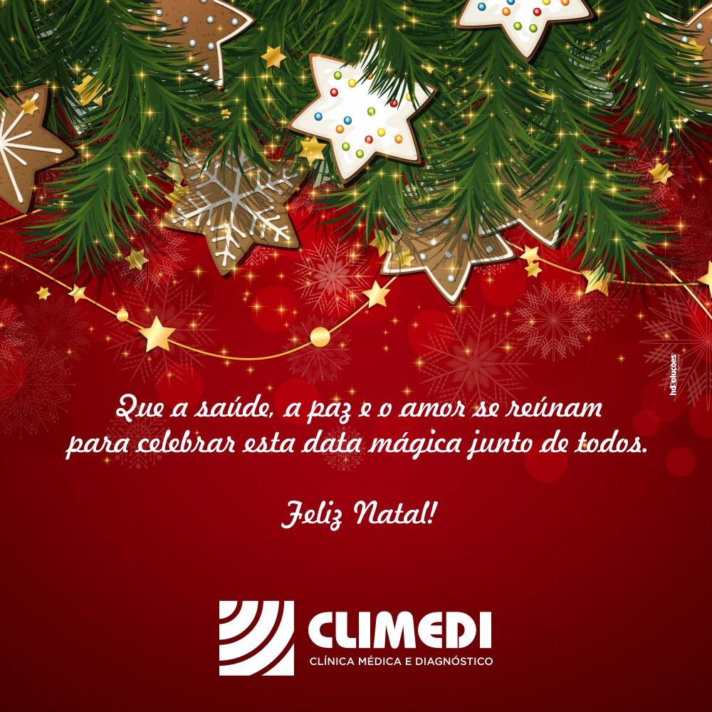 Climedi deseja a todos amigos um Feliz Natal