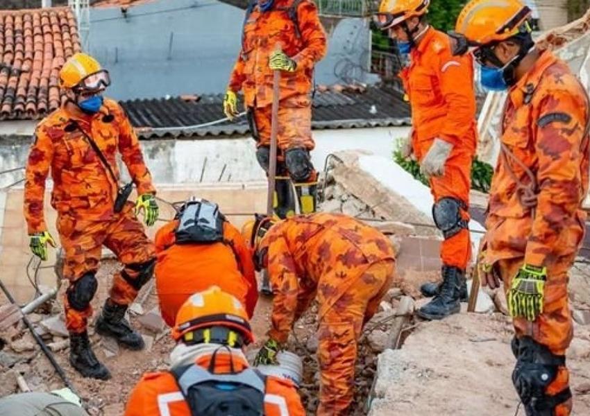Número de mortos sobe para 6 em desabamento de prédio em Fortaleza