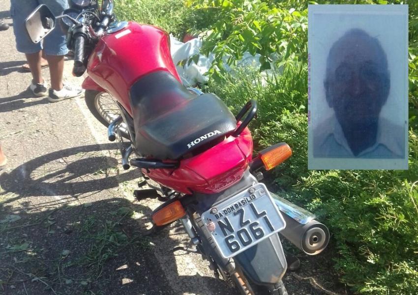 Identificado homem que morreu em acidente de moto na BA-148 no município de Dom Basílio